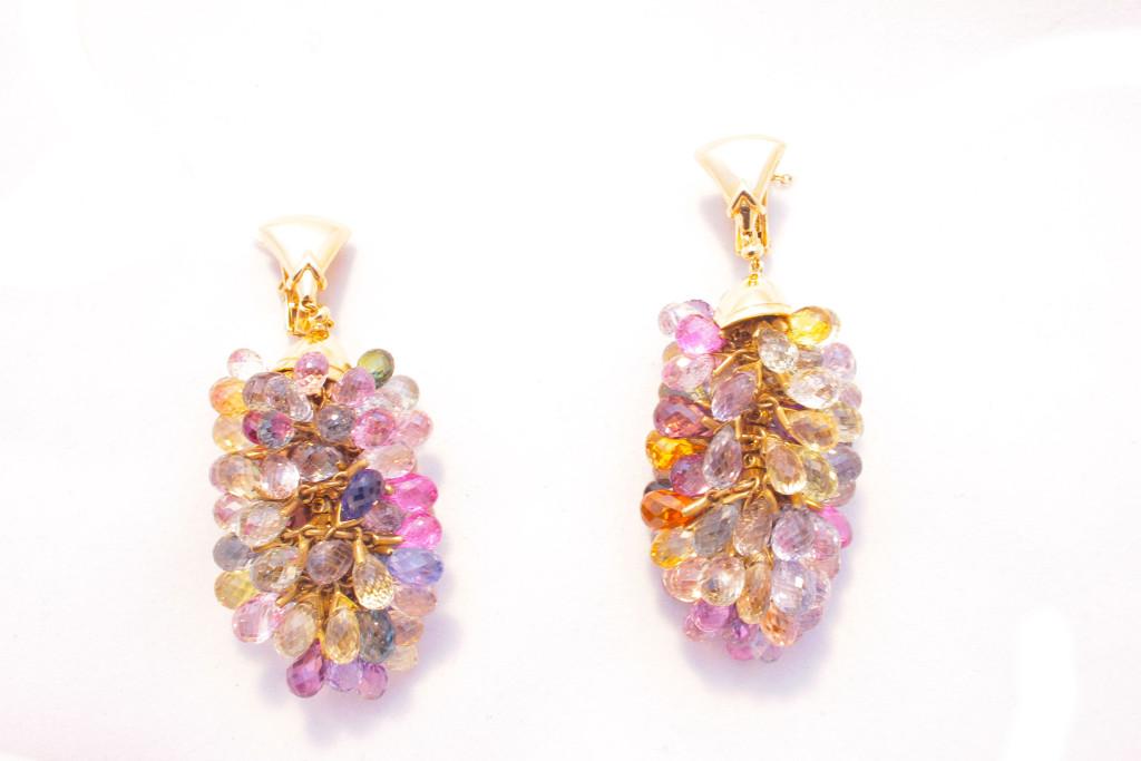 Bulgari Multicolor Sapphire Drop Earrings Eleuteri