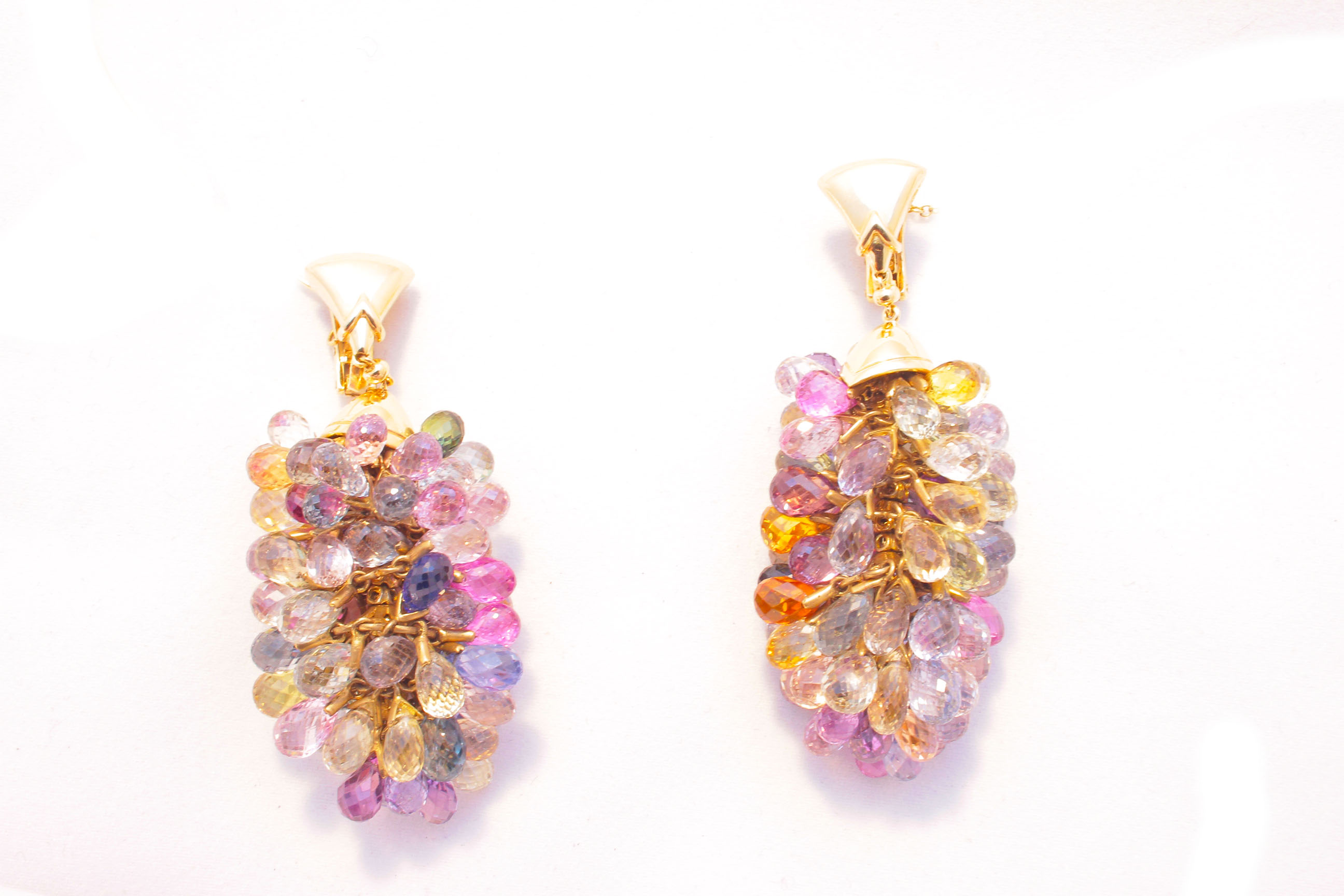 sapphire in earrings the gemstone topaz necklace briolette lemon bloom with filled pink jewelry tourmaline design and set gold