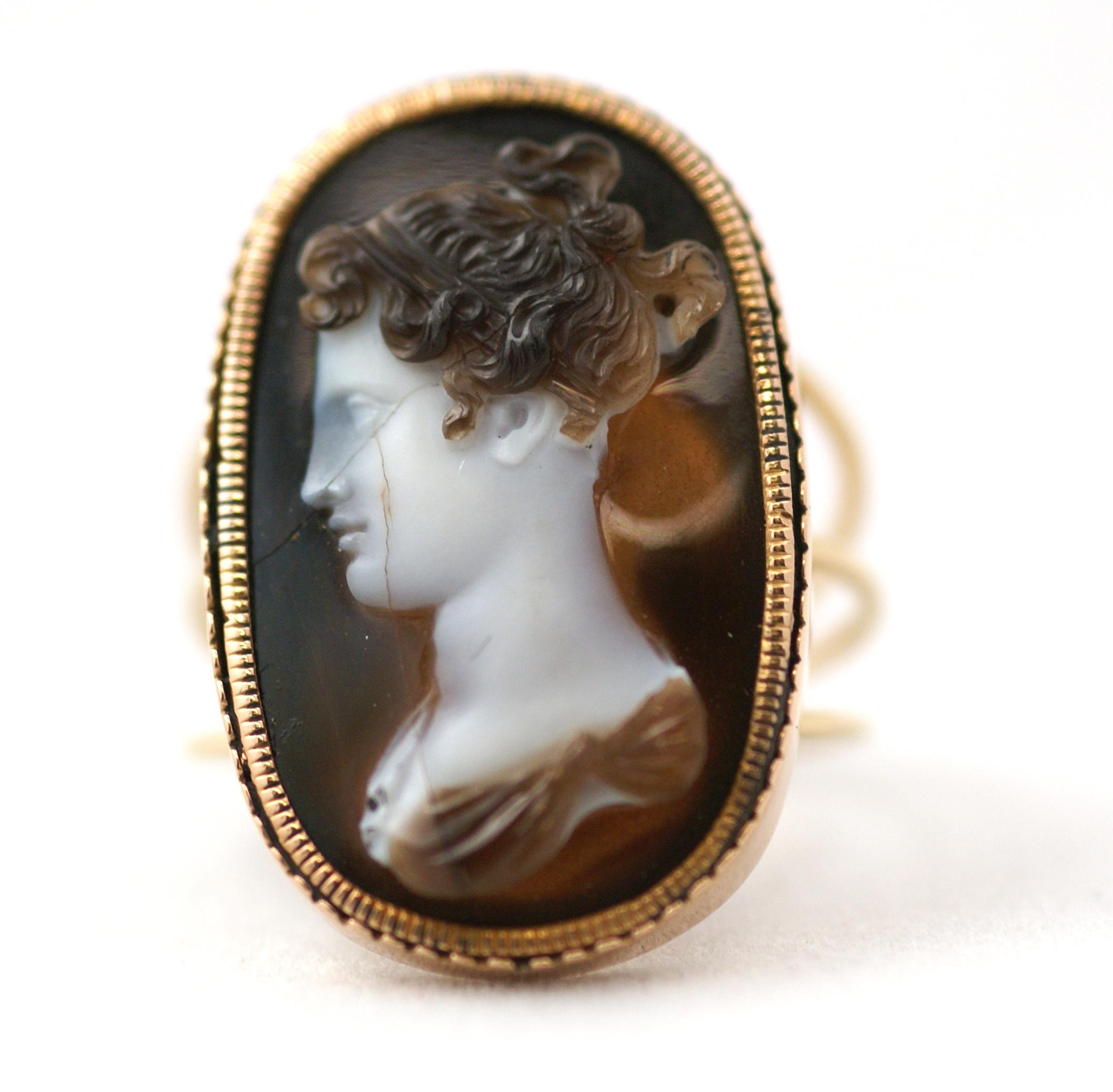 Antique cameo ring eleuteri antique cameo ring aloadofball Gallery