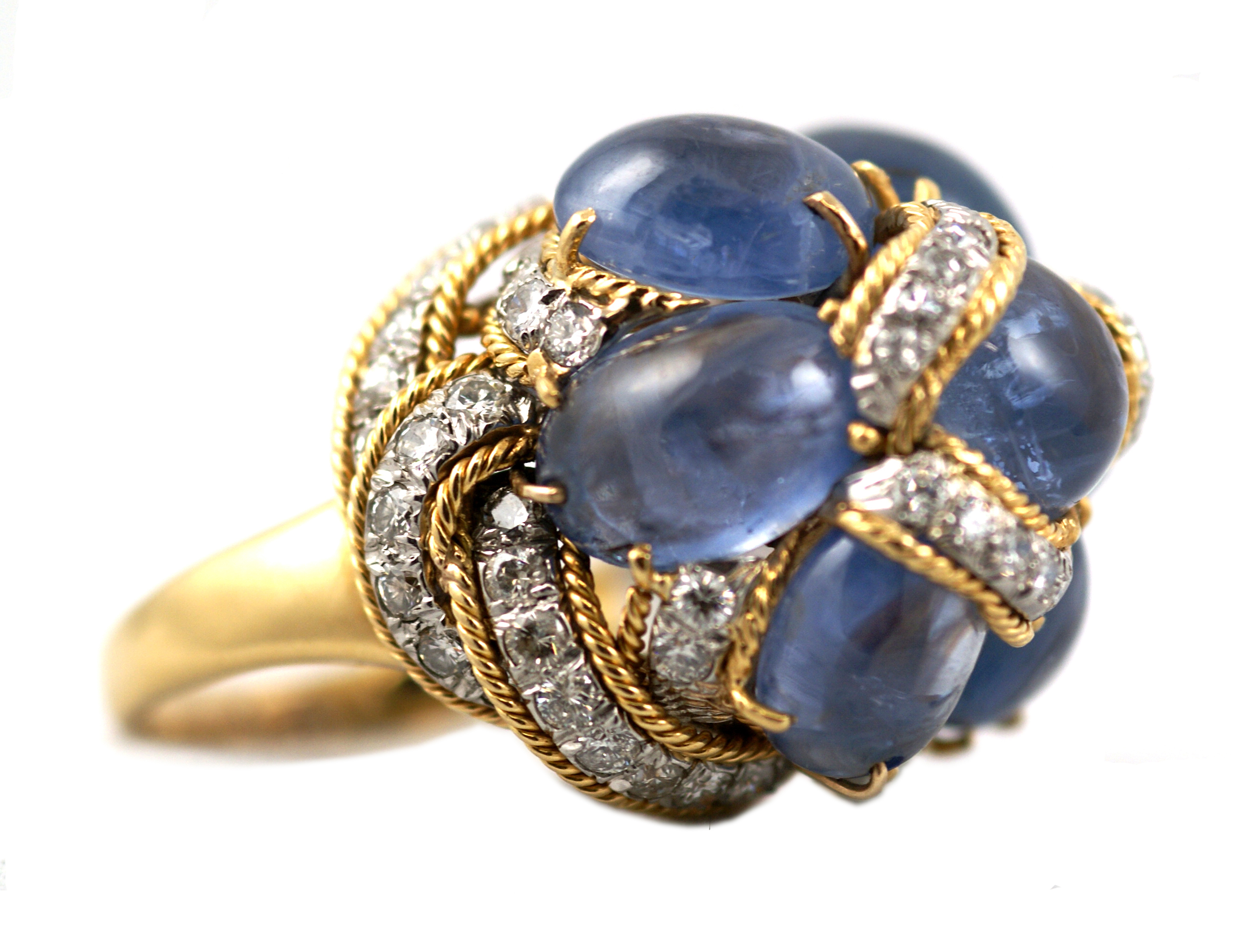 chanel diamond jewelers band opulent cocktail sapphire ring jewelry