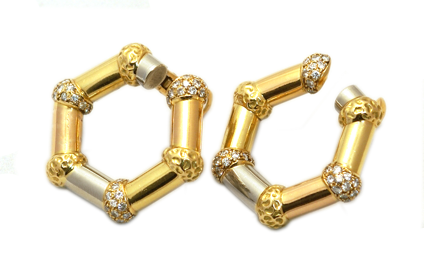 Rare Bulgari New York Three Gold Ear Clips - Eleuteri