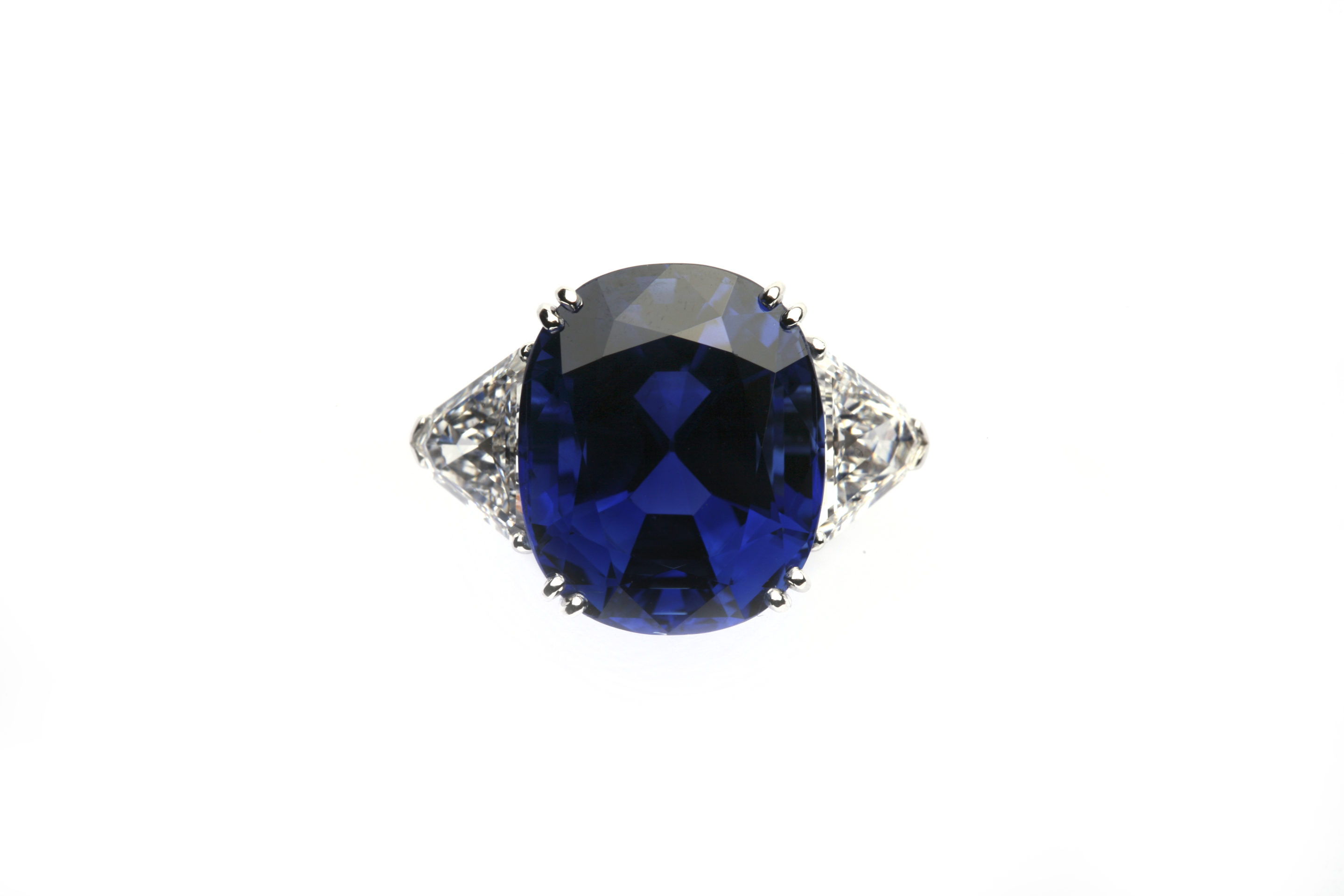 diamond heat burmese three no and dinner ring stone sapphire