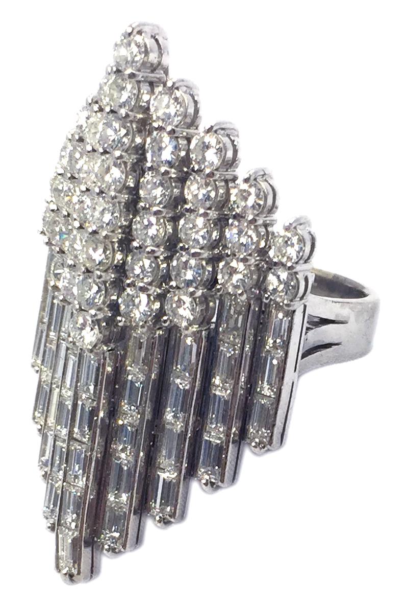Geometric Design Diamond Cocktail Ring Eleuteri