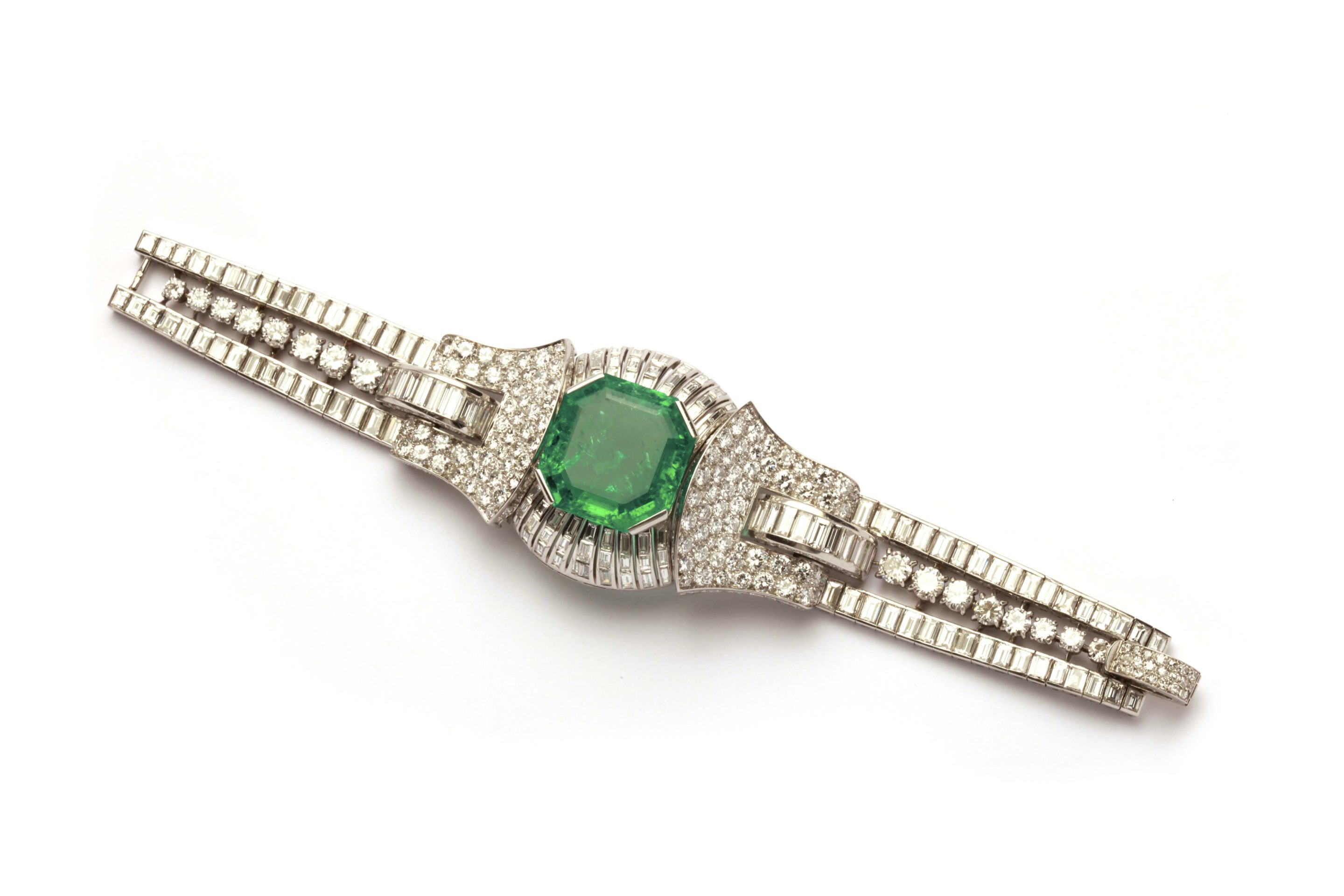 bracelet solid emerald and diamond tennis genuine gold product