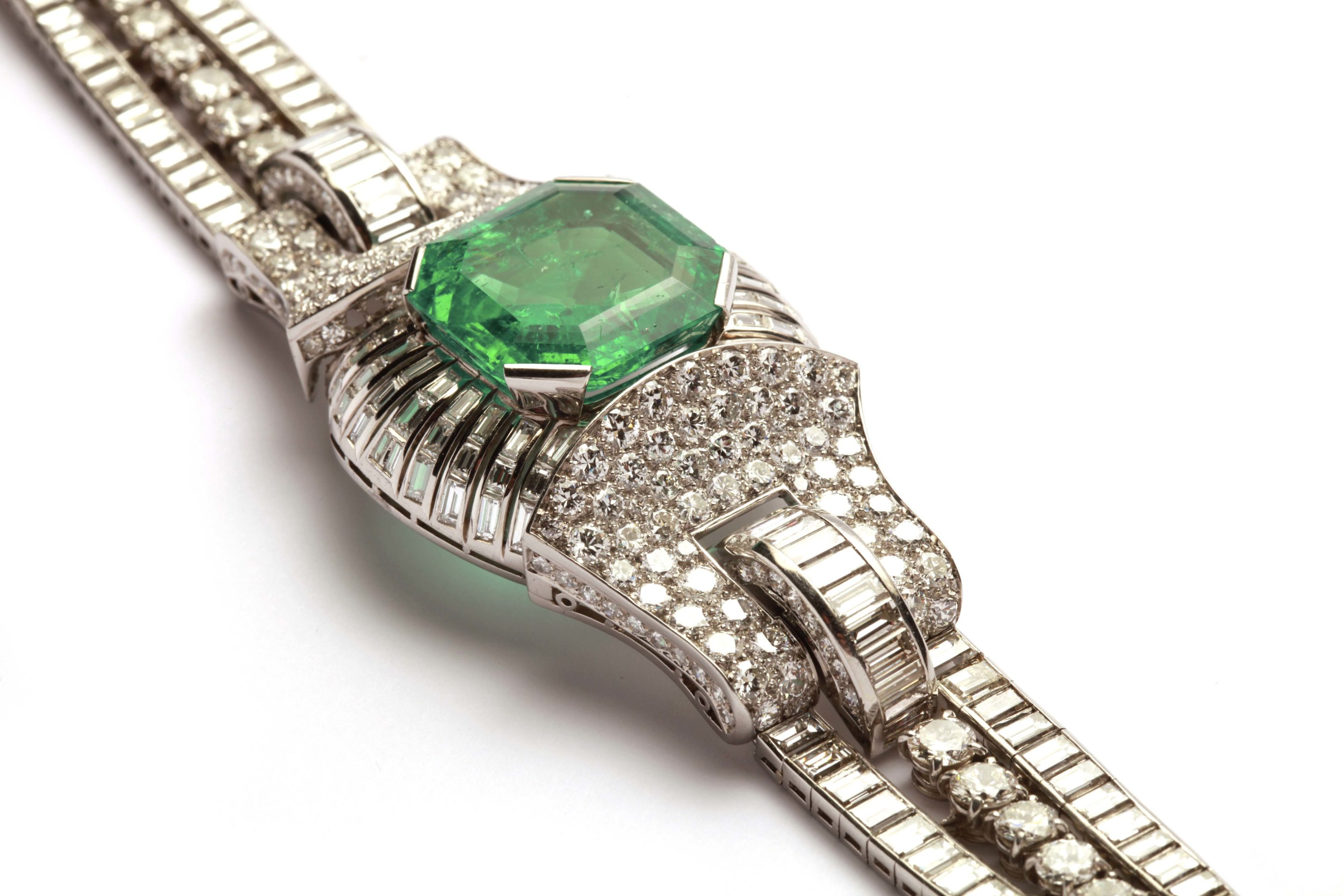 gold online jewellery emerald bracelet en diamond