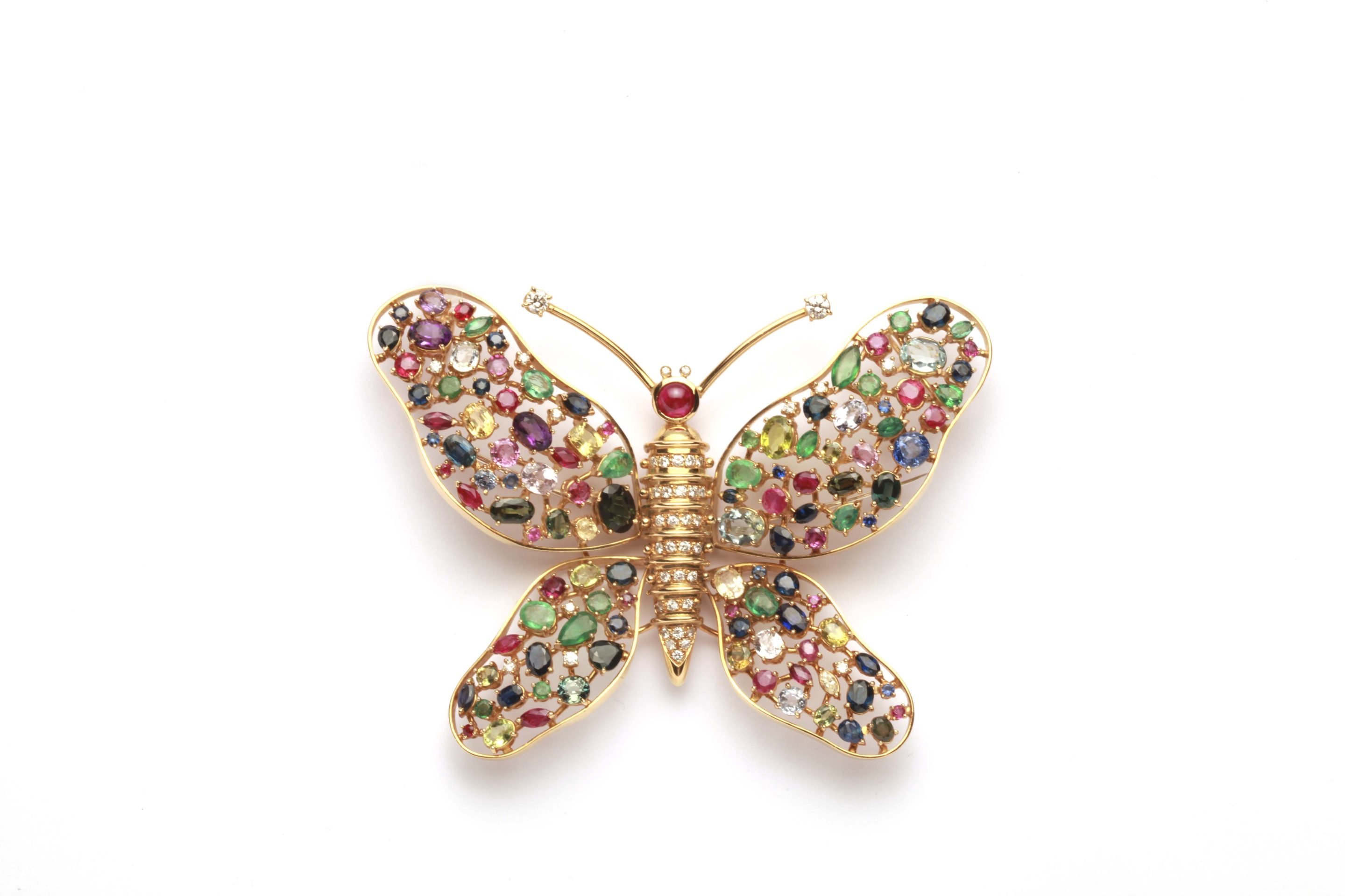 of paula from and pink fire a butterfly earrings pair pin opal sapphire crevoshay by