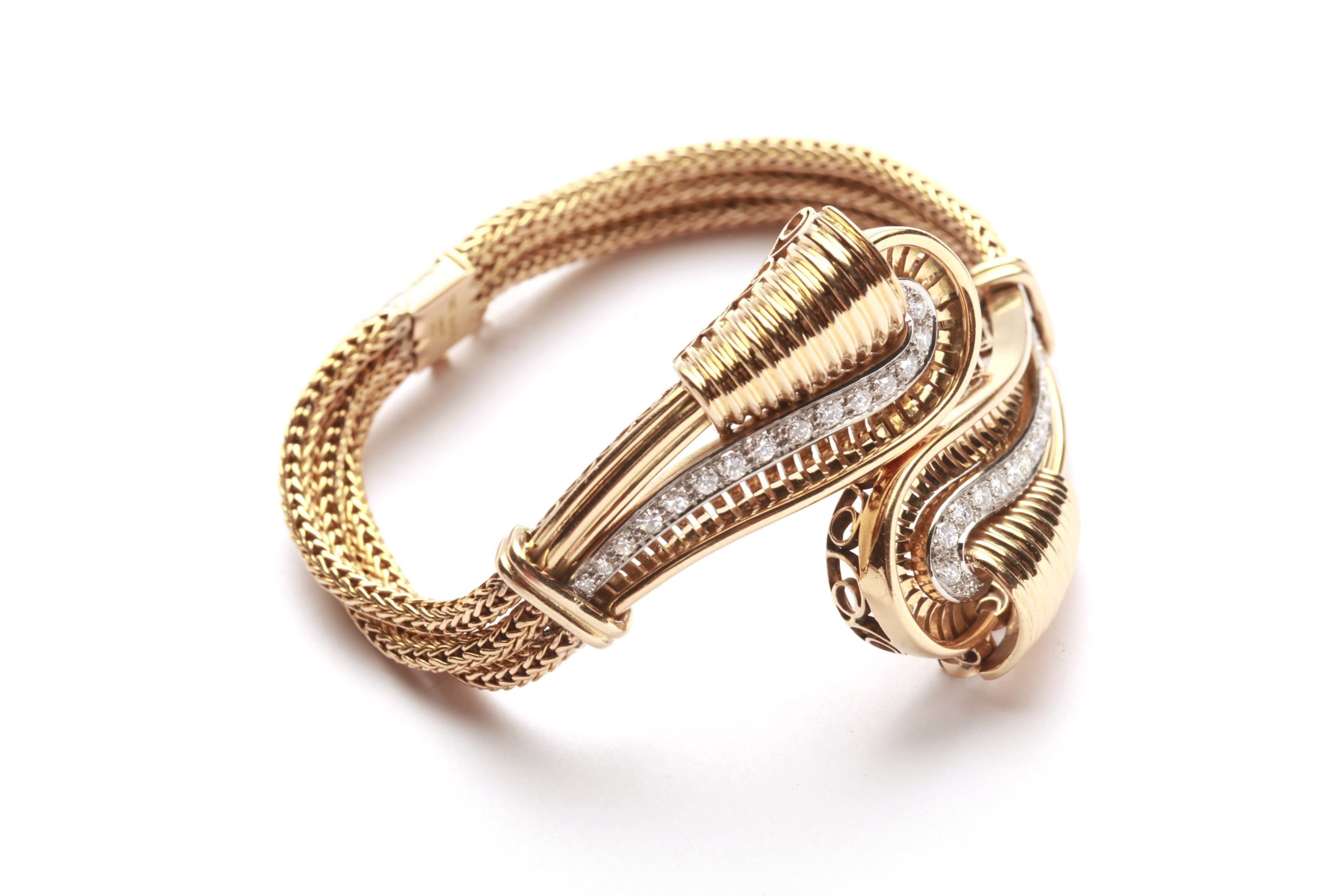 gold bracelet id on french tire j link track bracelets at org for retro ruby jewelry sale