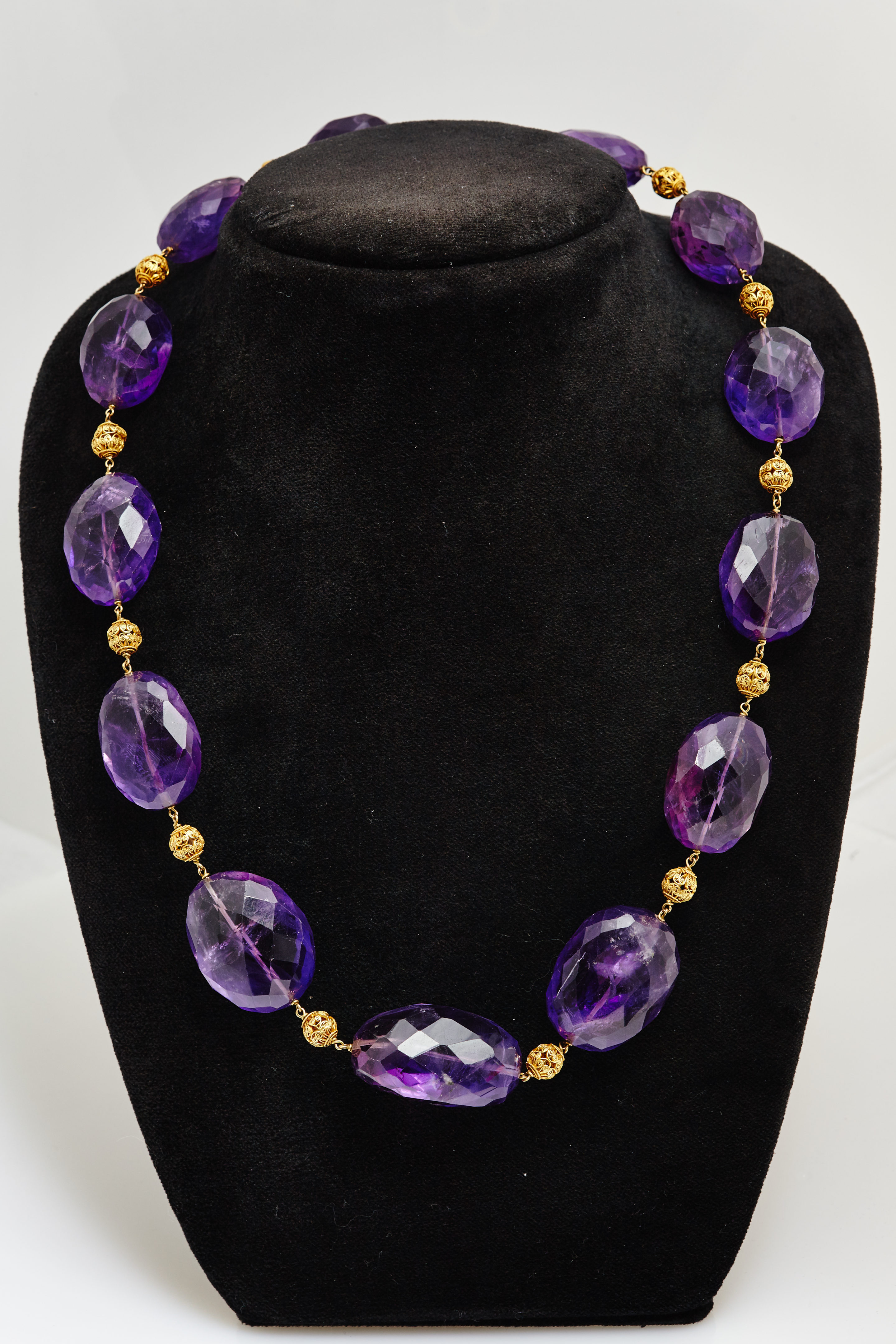 Retro Amethyst Beads Necklace Eleuteri