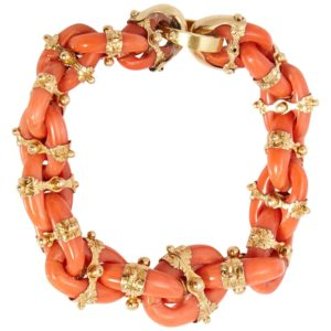Antique Coral Links Bracelet