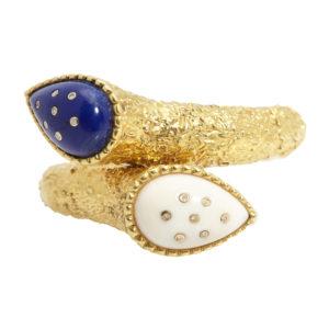 Gold & Lapis Bracelet