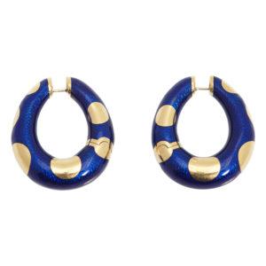 Bulgari Blue Enamel Hoops