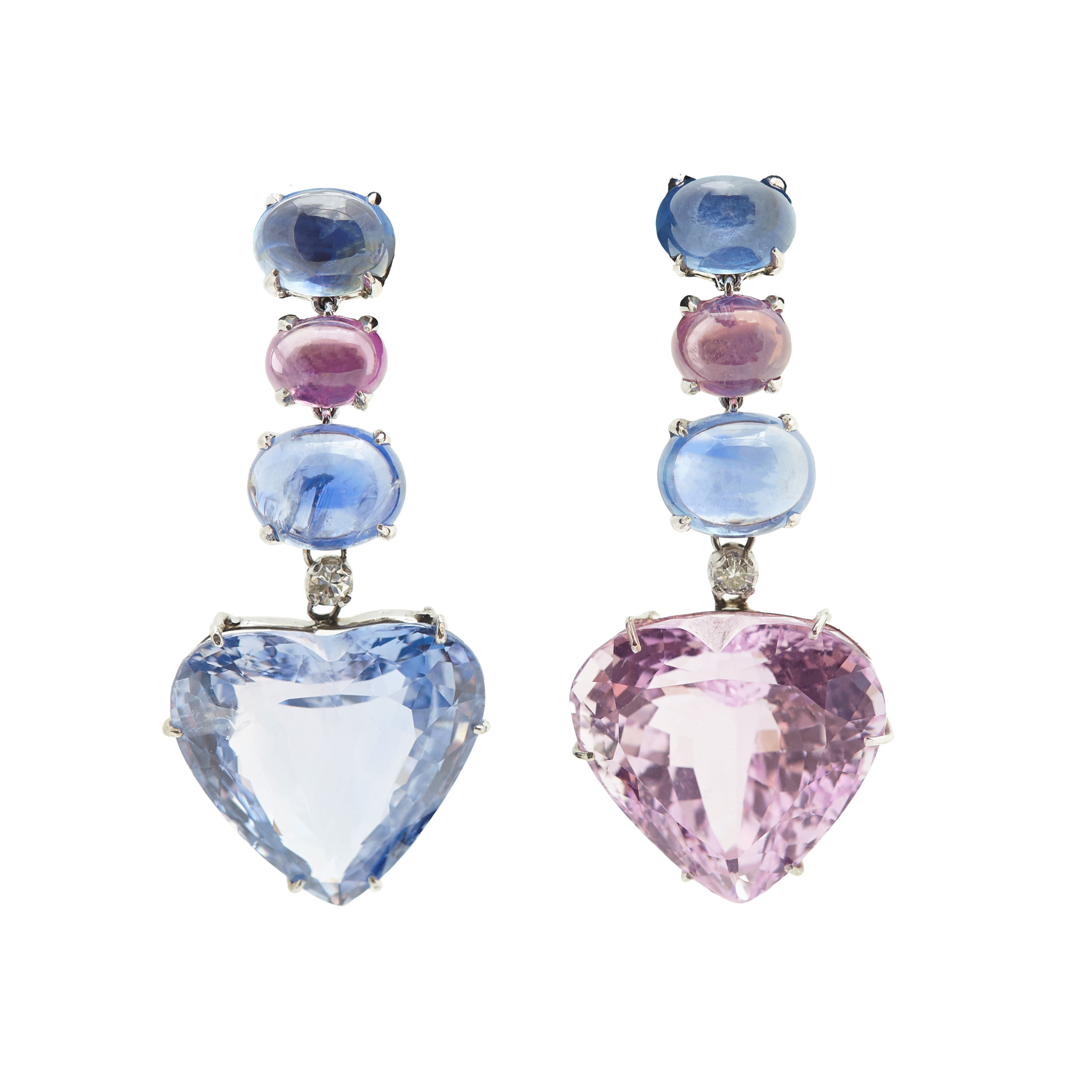 with topaz kunzite earrings and london gold portfolio blue drops attachment o pink