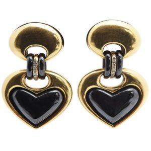 Faraone Heart Shaped Ear-rings
