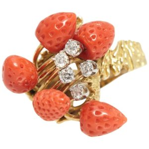 Strawberry Coral Ring