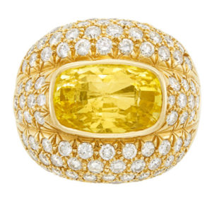 Andrew Clunn Yellow Sapphire Ring